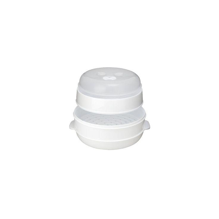 Jobar 2-Tier Microwave Steamer, White