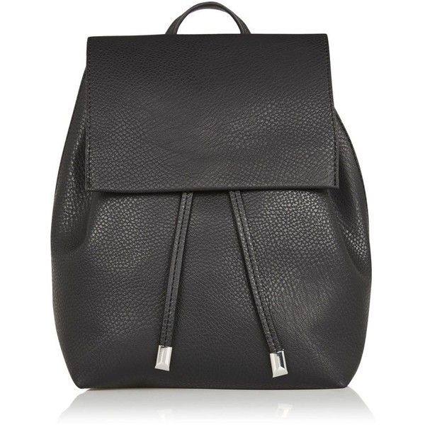 Women's Topshop Chain Strap Mini Faux Leather Backpack (533.600 IDR) ❤ liked on Polyvore featuring bags, backpacks, black, punk backpack, mini rucksack, mini bag, evening bags and faux leather rucksack
