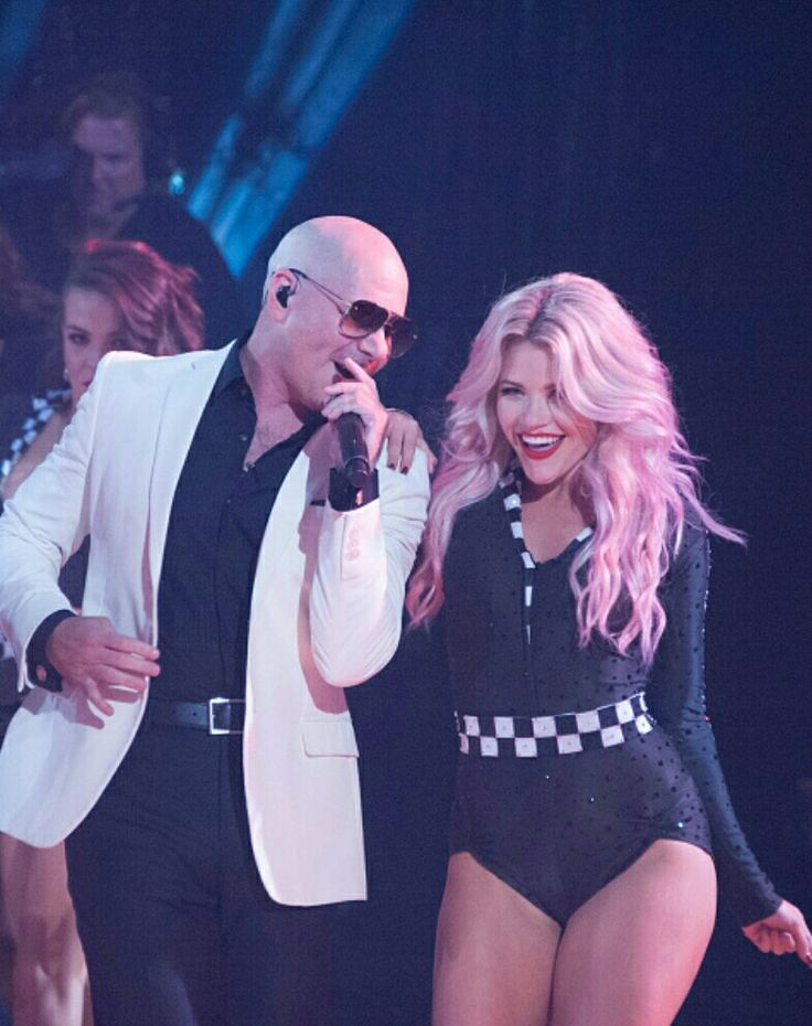 Pitbull and Witney DWTS