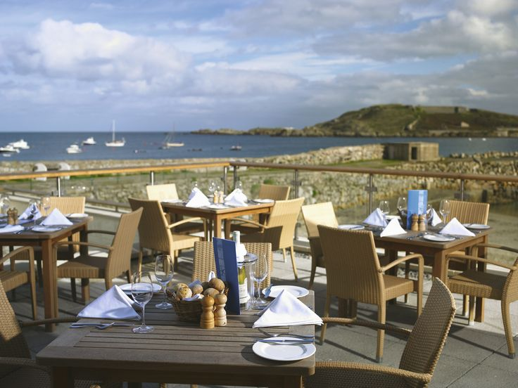 Alderney Braye Beach Hotel. Amazing views from the terrace.