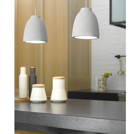 Tadao 1 Flat Top Pendant in Concrete | Pendant Lights | Lighting