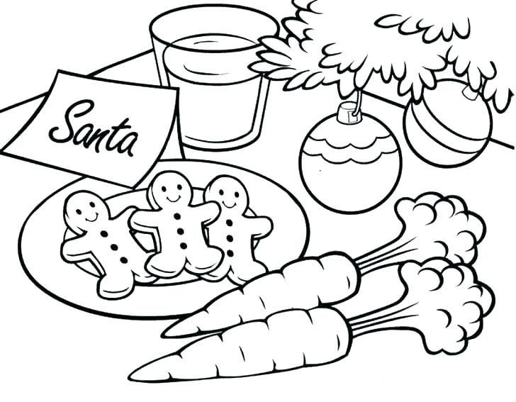 Cookies For Santa Coloring Page Santa Coloring Pages Christmas Coloring Books Free Disney Coloring Pages