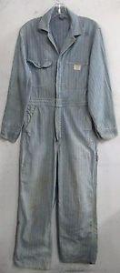Vintage men's work coveralls   Vintage Mens Big Mac Penneys Denim Work Wear Coveralls Overalls Sz 36R ...