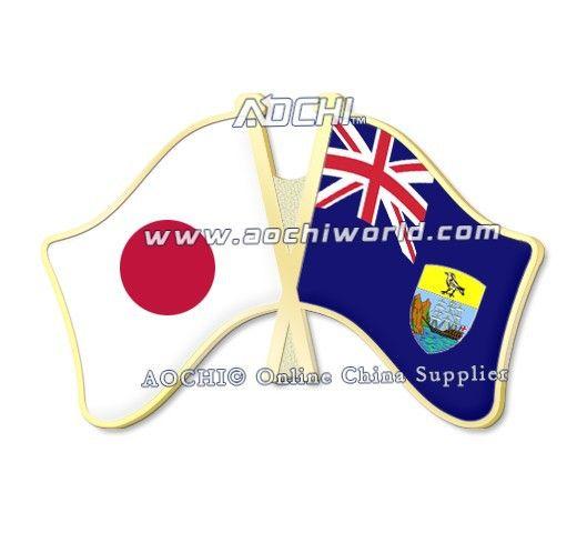 Лучшие продажи высокое качество смешать и матч япония и сент-луис нью-хелена скрещенные отворотом флагов