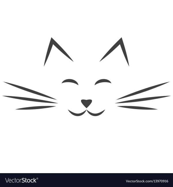 17 Cat Whiskers Vector Cat Face Drawing Cat Silhouette Tattoos Cat Tattoo Small