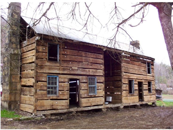 It Is Built With Large Hand Hewn Poplar Logs Harvested By The Early Settlers Log Cabin Builders