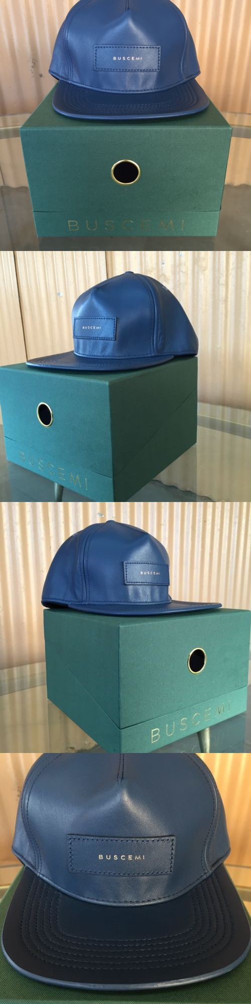 Hats 163543: Nwt Authentic Buscemi Postback Leather Hat With Box -> BUY IT NOW ONLY: $120 on eBay!