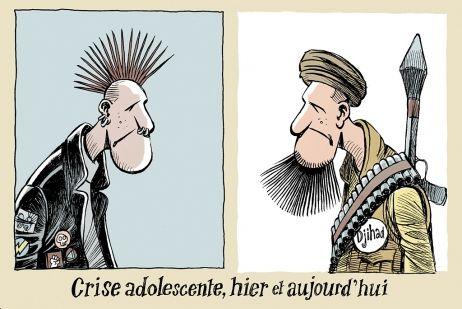 """Djihad is the new punk"" : Chappatte croque l'actualité."