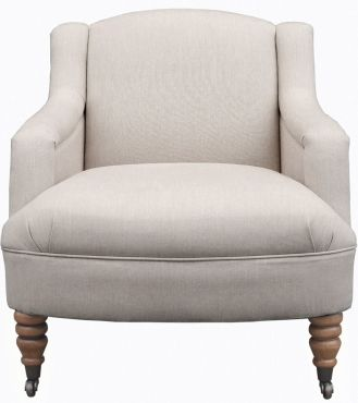 Castleton Chair - Fabric / Colour: Dawson Dove Grey - Chairs