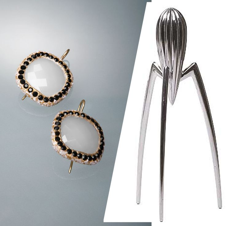 MILANO | SALONE DEL MOBILE: Rubinia gioielli e le ICONE del DESIGN: juicy salif Philippe Starck orecchini Rubinia gioielli www.rubinia.com
