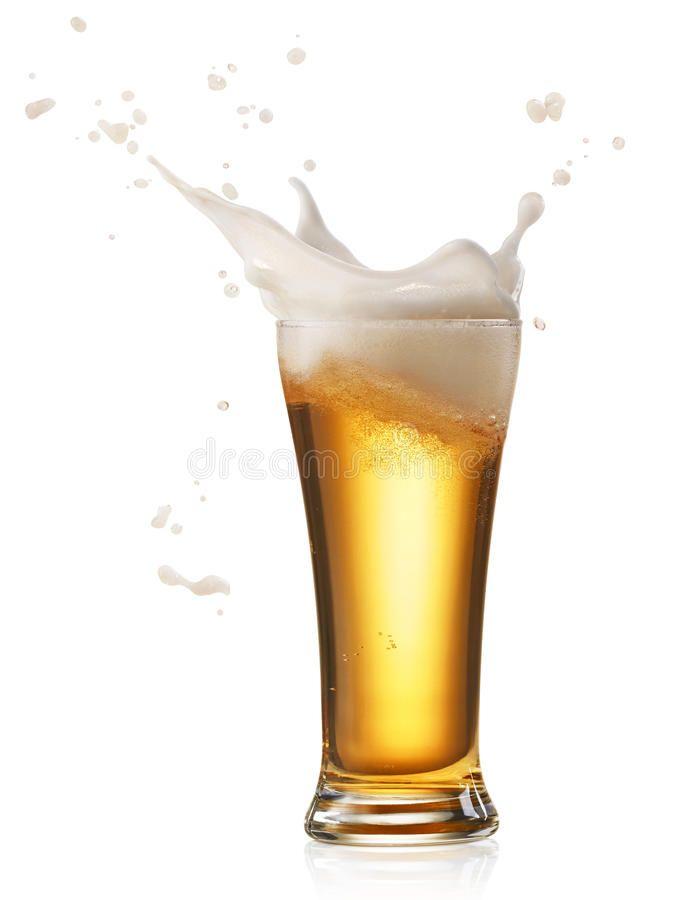 Beer Splash Glass Of Splashing Beer Isolated On White Aff Glass Splash Beer Splashing White Ad Beer Wine And Beer Beer Art