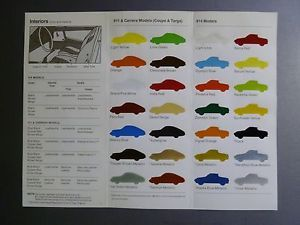 1974-Porsche-911-amp-914-FACTORY-issued-Color-Chart-Folder-Brochure-RARE-Awesome