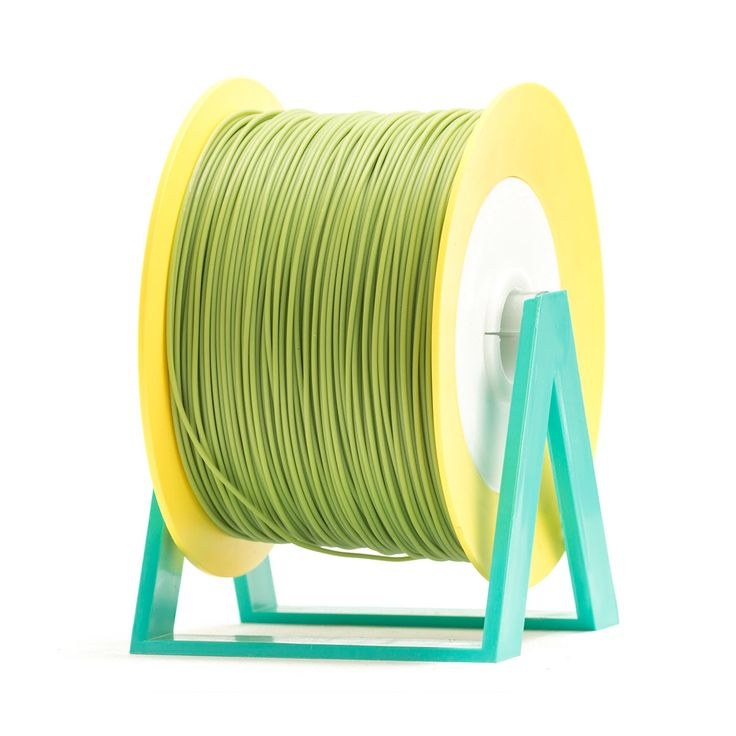 PLA Filament Color Sage Green EUMAKERS | Diameter 1,75mm | New spool is convertible into a coat hanger. Spool holder included | Weight: 1 Kg | www.monzamakers.com #3Dprinting #3Dprint #3Dfilament #3Dfilaments #Eumakers #MonzaMakers