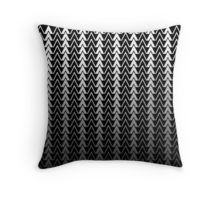 black and white geometric triangles pattern pillow