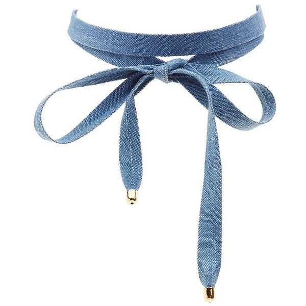 Charlotte Russe Wrap Choker Necklace ($6) ❤ liked on Polyvore featuring jewelry, necklaces, accessories, choker, denim, strand necklace, wrap jewelry, charlotte russe necklaces, bow necklaces and wrap choker