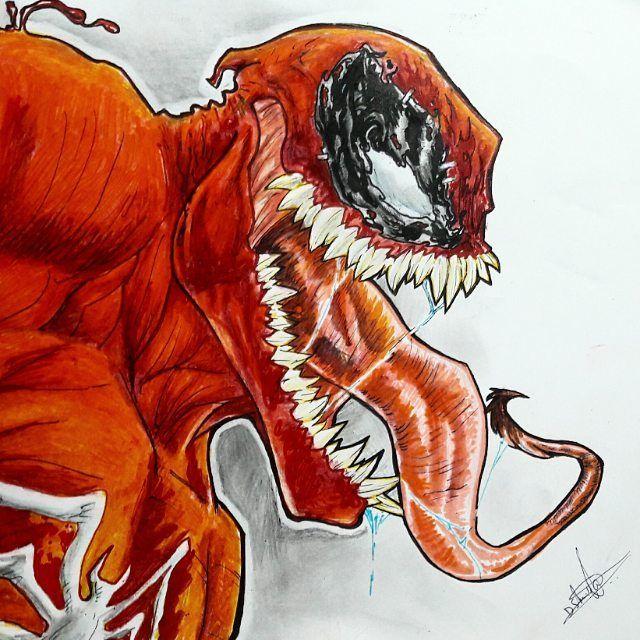 Venompool Sketch Myart Venomized Marvel Comics Deadpool Drawings Marvel Modern Art