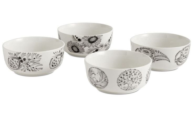 Nora bowls with floral pattern