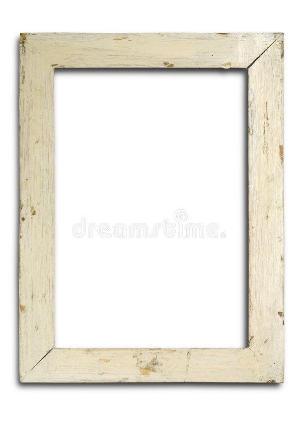 Frame An Old Wooden Frame On White Ad Wooden Frame White