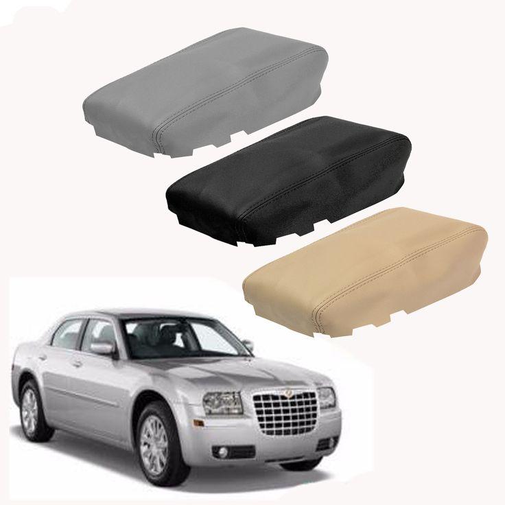 Tapa del apoyabrazos de la tapa de la consola del centro de cuero cabida para Chrysler 300 2008-2010