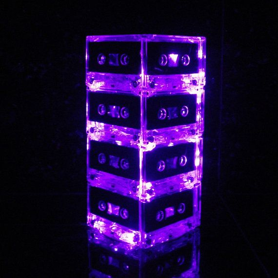 Purple Mixtape Cassette Tape Night Light Lamp by BreakTheRecord