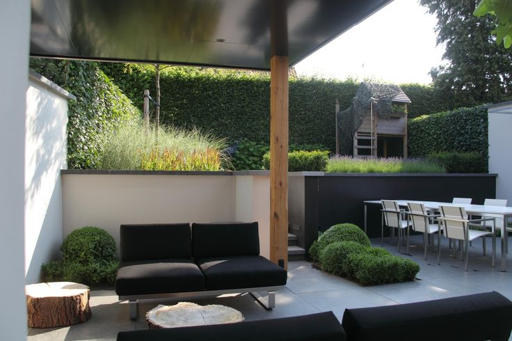 Stadstuin modernetuin exclusieve tuin kleine tuin for Moderne tuin met overkapping