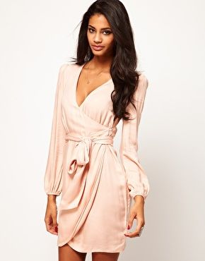 ASOS Wrap Dress With Tulip Skirt @Alisa Metahic what do you think about this dress for me for a fancy dinner?