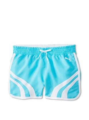 58% OFF Puma Girl's Form Stripe Woven Short (Pro Blue)