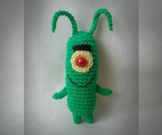 Little funny evil unlucky genius from Sponge Bob Squarepants.Easy to perform if you know how to crochet. I suggest you to do the same :)