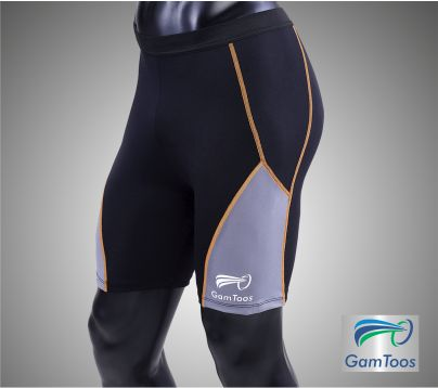 GamToos PRO – Calza Corta Hombre Compresión Localizada Negra y Gris - (CHP-C-0001-NG)