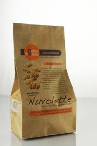 Nuvolette: i classici e finissimi biscottini viennesi ma senza latticini, realizzati con burroli', per chi non puo' o non vuole mangiare latticini.
