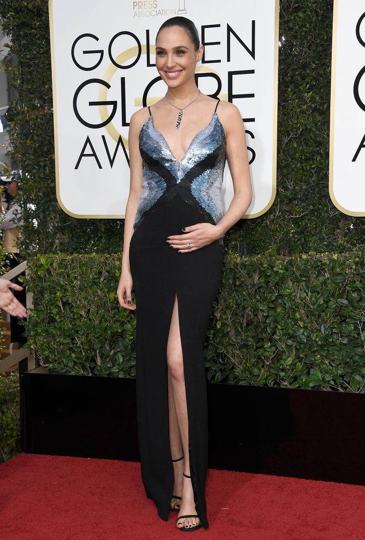 Gal Gadot is stunning in the NUDIST at the 79th Golden Globe Awards #inourshoes