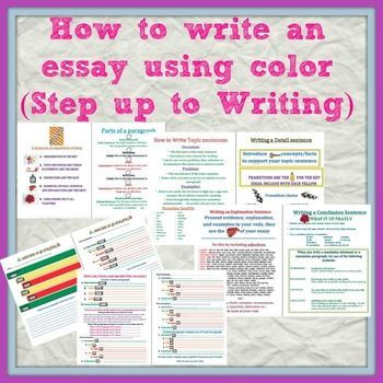 step up to writing essay rubric Step up to writing - five paragraph essay your analysis or ideas about your topic everything you write in your essay should help support your thesis.