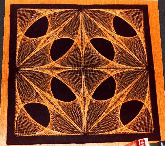 how to make geometric string art designs