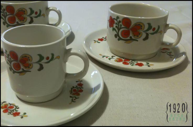 Tazas y platos - Loza nacional - Desde $40.- Más info y fotos: http://1920decobazar.blogspot.com.ar/2014/07/tazas-en-loza-nacional.html