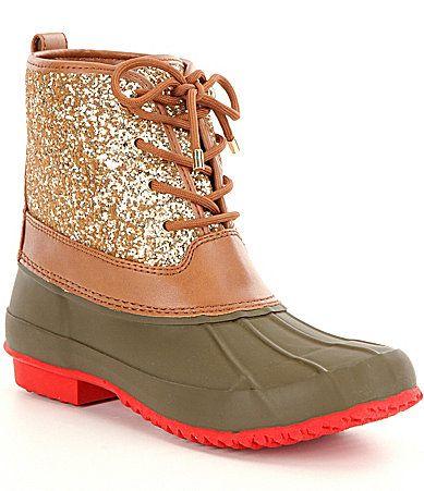 Gianni Bini Stormie Glitter Duck Boots #Dillards