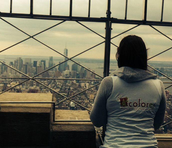 A2 colores viaja a Nueva York. Empire State Building en New York, NY