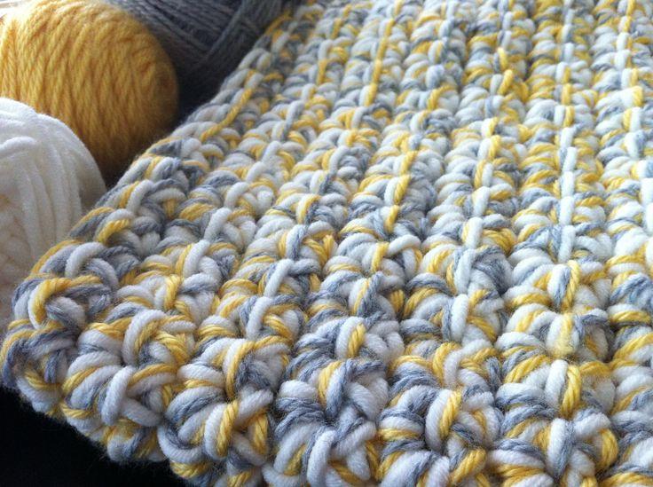 yellow crochet baby blanket