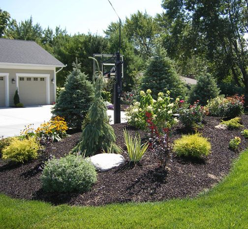 Berm idea newest project a berm pinterest the for Large lot landscaping ideas