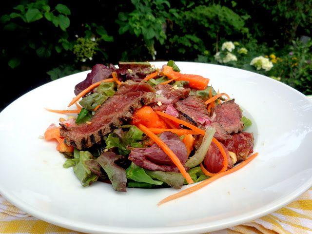 Wat ik gegeten heb: Gegrilde steak en Papaya salade