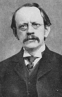 """Sir Joseph John """"J. J."""" Thomson (18 December 1856 – 30 August 1940) was a British physicist and Nobel laureate. He is credited with discovering electrons and isotopes, and inventing the mass spectrometer. Thomson was awarded the 1906 Nobel Prize in Physics for the discovery of the electron and for his work on the conduction of electricity in gases."""