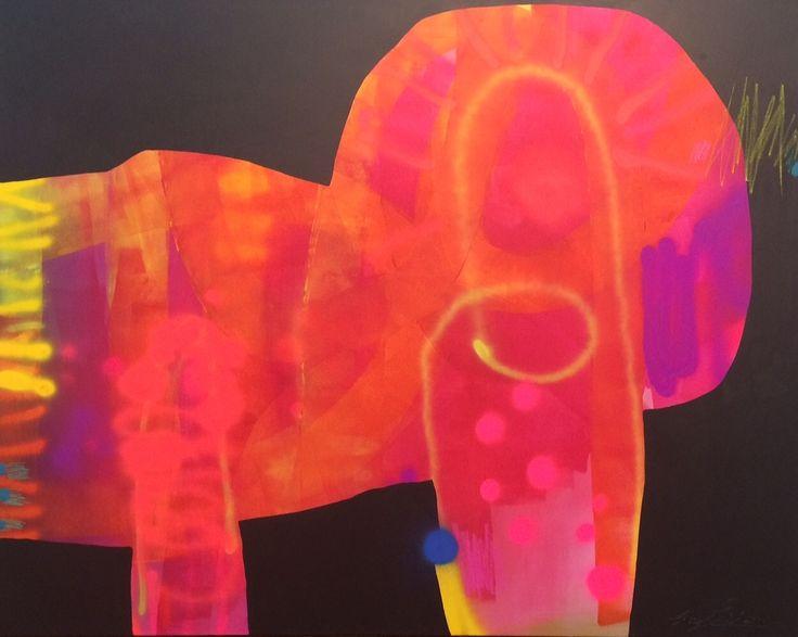 """Orange Rush"" by Cheryl Petersen www.tuskgallery.com.au"