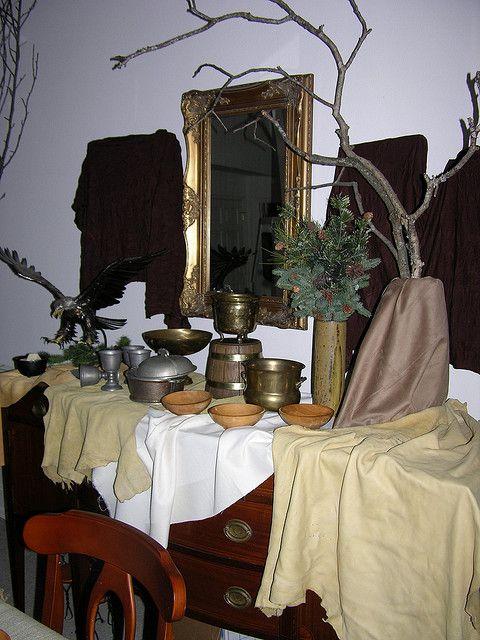 Set up for the Viking party by artzy38, via Flickr