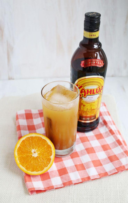 Cinnamon girl.  Kahlúa, rum, cream of coconut, juice from 1/2 an orange, pineapple juice, and cinnamon