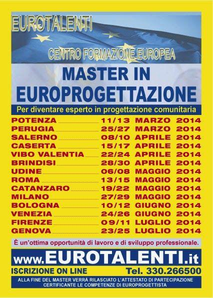 EUROPROGETTAZIONE -OPPORTUNITA' PROFESSIONALE E SVILUPPO PROFESSIONALE-DIVENTA EUROPROGETTISTA-ATTESTATO ESPERTO EU   www.eurotalenti.it