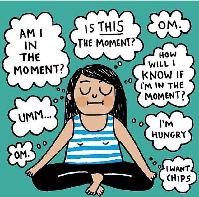 ha! This is totally me when I meditate...slowly but surely it's getting easier though!