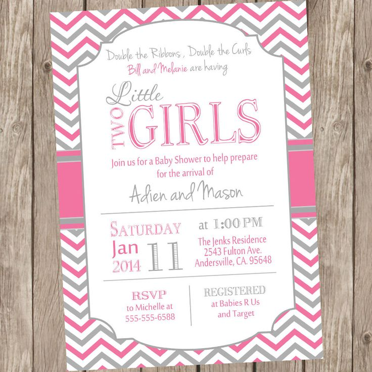 16 best Baby shower invite twins images on Pinterest Baby shower - free printable baby shower guest list