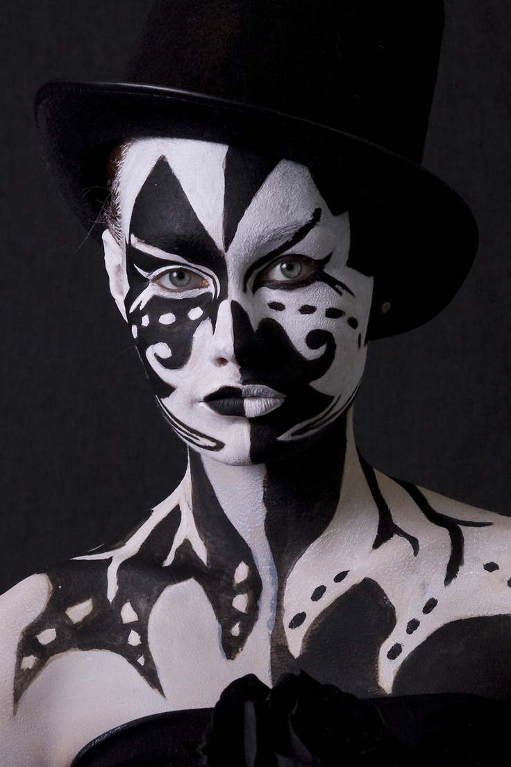 17 Best Images About Fantasy Makeup Ideas For Drama Halloween Face Painting Black And White