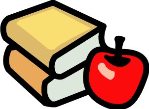 Apple with Books.