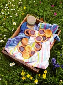 Rainbow jam tarts Exciting childhood treats Jam tarts are humble, cheap to make and such a pretty little treat. This is a great recipe to do with the kids.