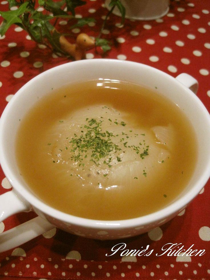 丸ごと♪新玉ねぎのコンソメスープ♪ by ぽにえ [クックパッド] 簡単おいしいみんなのレシピが265万品